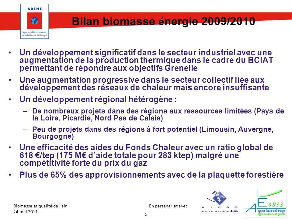 Bilan biomasse énergie 2009/2010