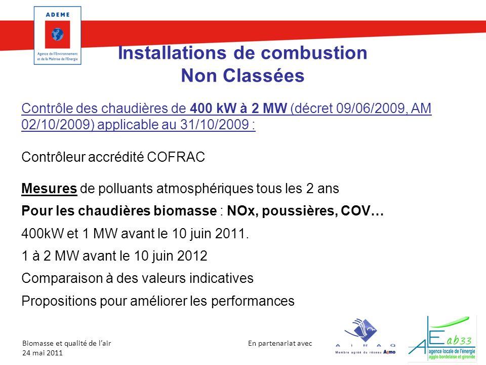 Installations de combustion Non Classées