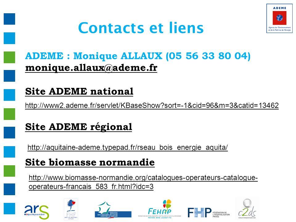 Contacts et liens ADEME : Monique ALLAUX (05 56 33 80 04)