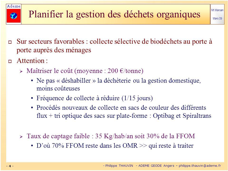 Sur secteurs favorables : collecte sélective de biodéchets au porte à porte auprès des ménages