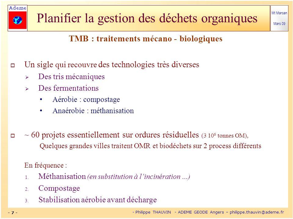TMB : traitements mécano - biologiques