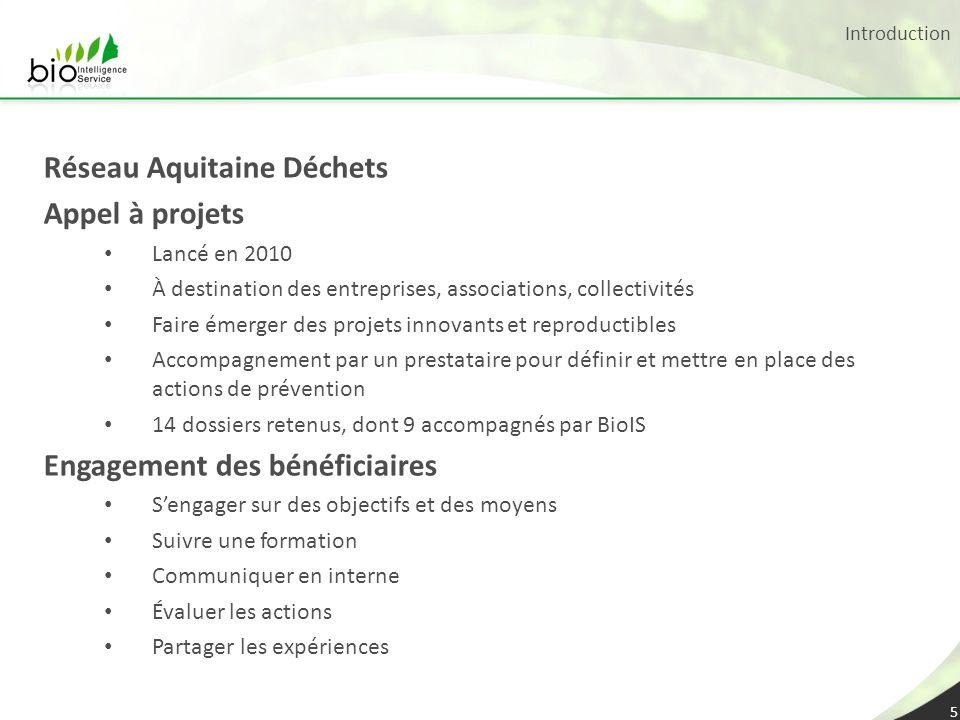Réseau Aquitaine Déchets Appel à projets