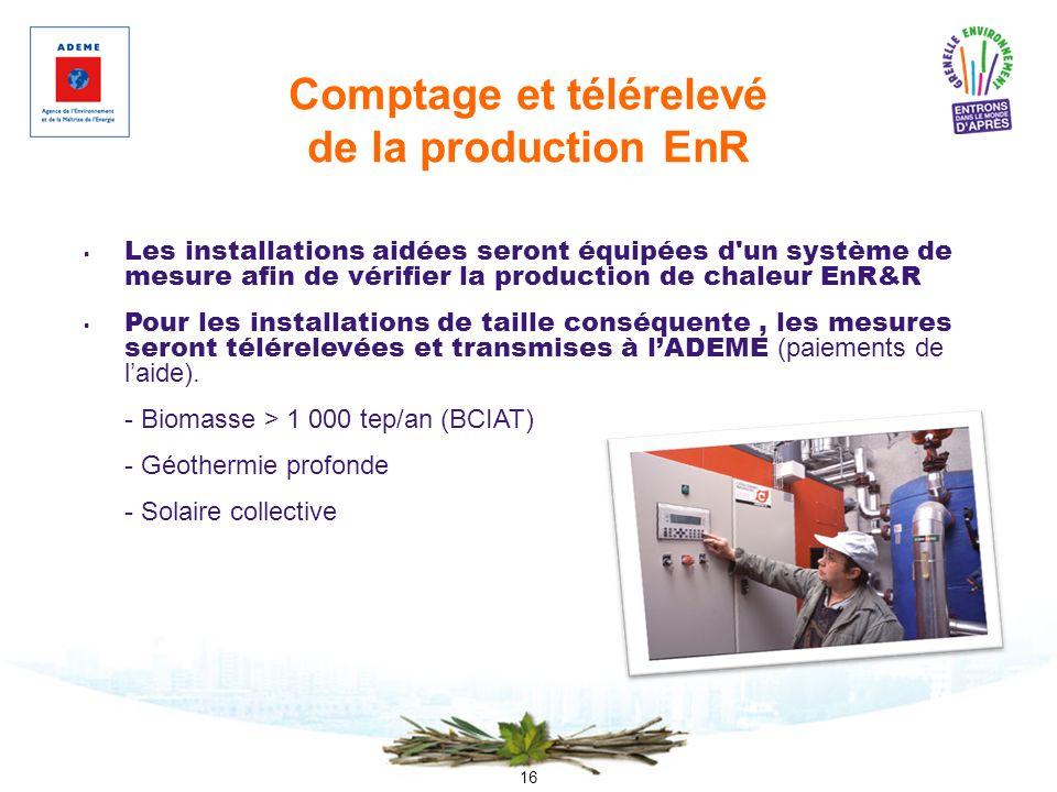 Comptage et télérelevé de la production EnR