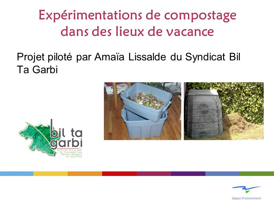 Expérimentations de compostage dans des lieux de vacance