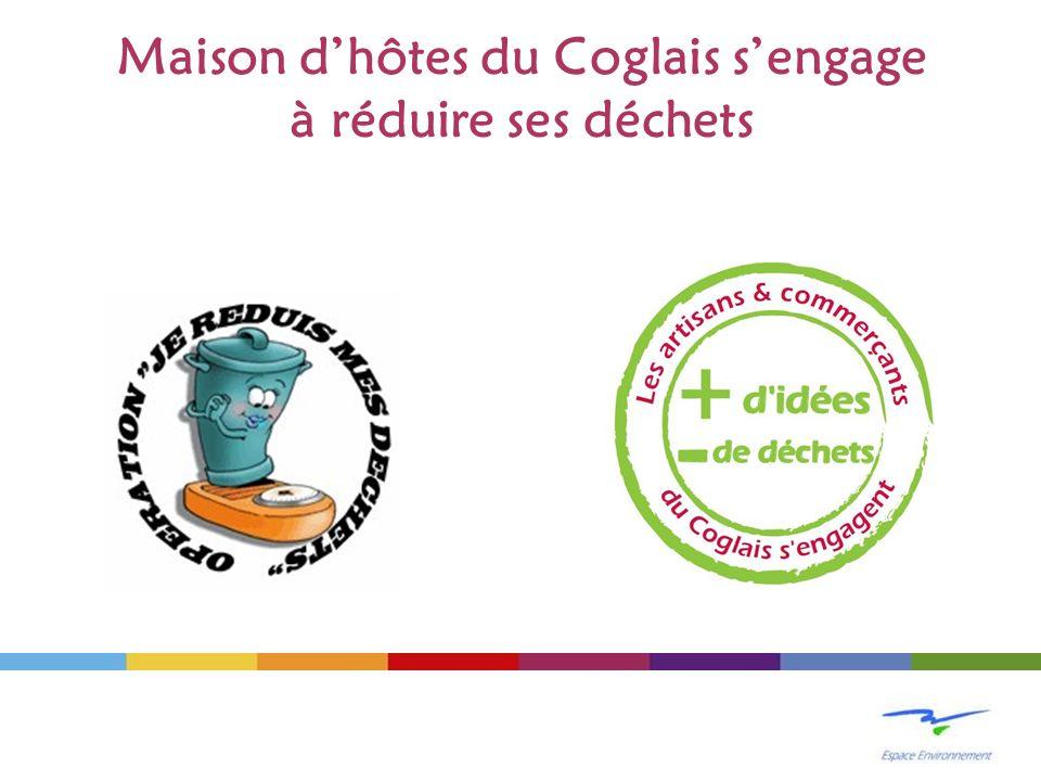 Maison d'hôtes du Coglais s'engage à réduire ses déchets