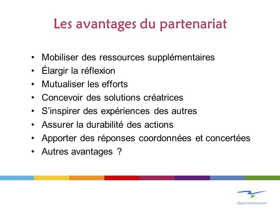 Les avantages du partenariat