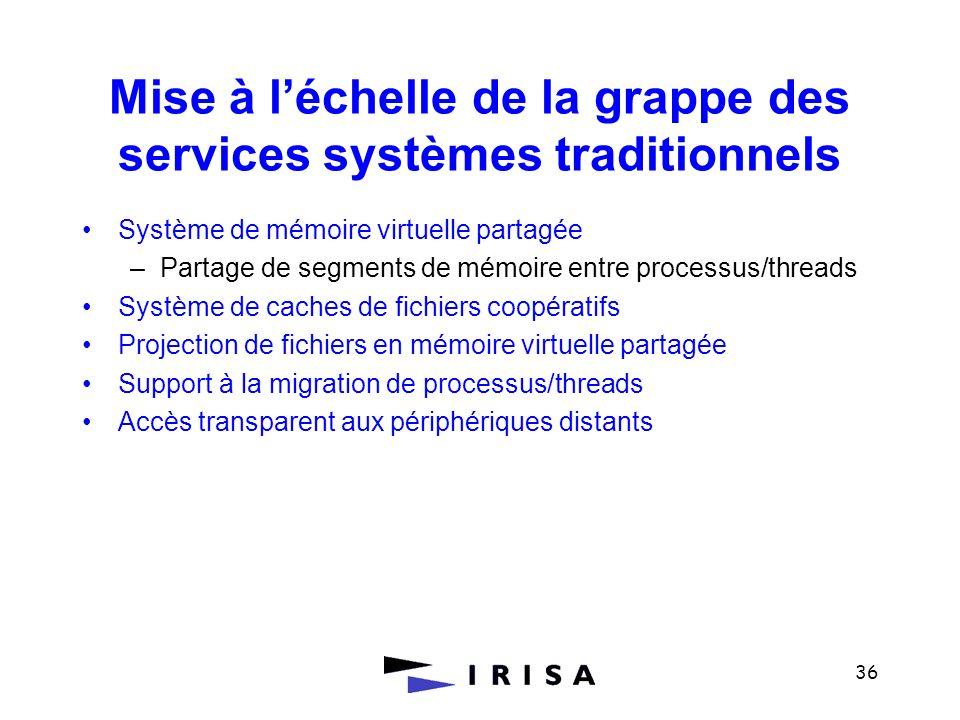 Mise à l'échelle de la grappe des services systèmes traditionnels