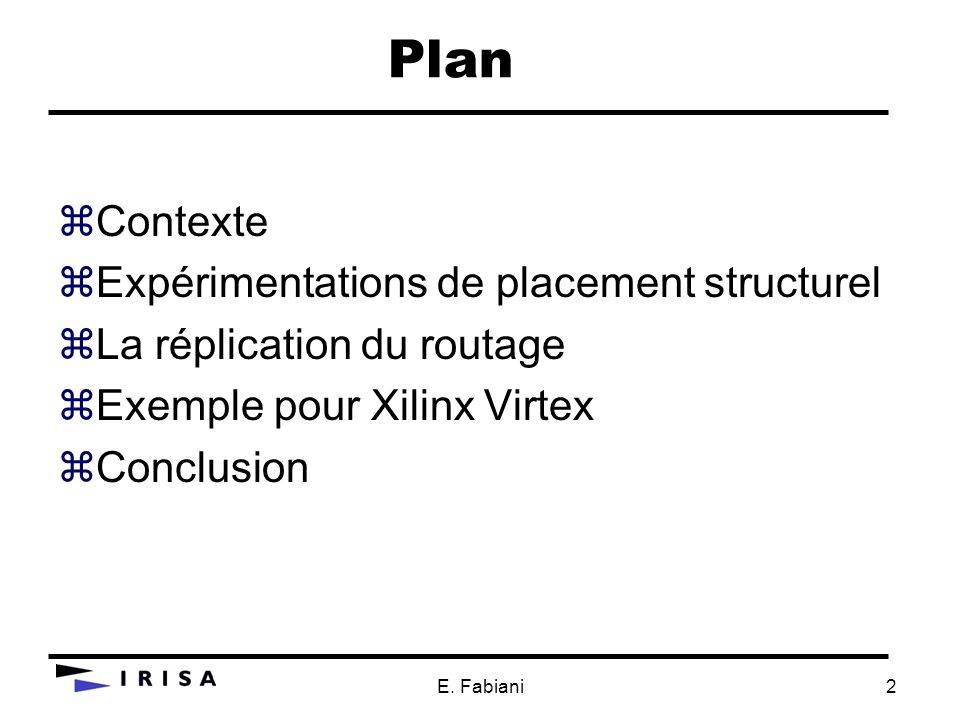 Plan Contexte Expérimentations de placement structurel