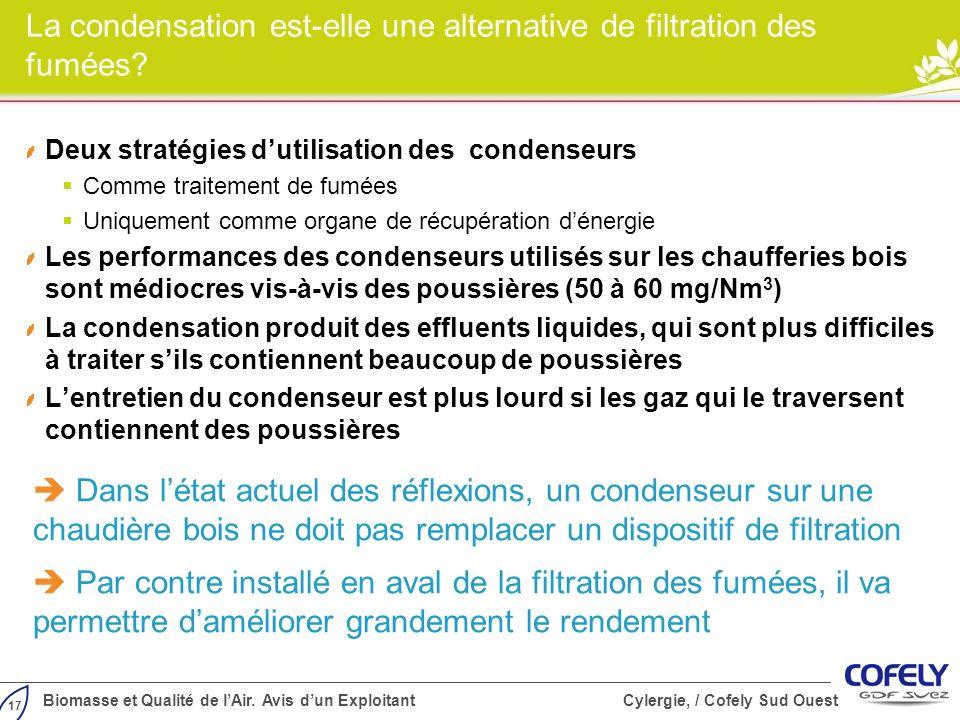 La condensation est-elle une alternative de filtration des fumées
