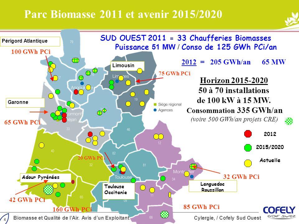 Parc Biomasse 2011 et avenir 2015/2020