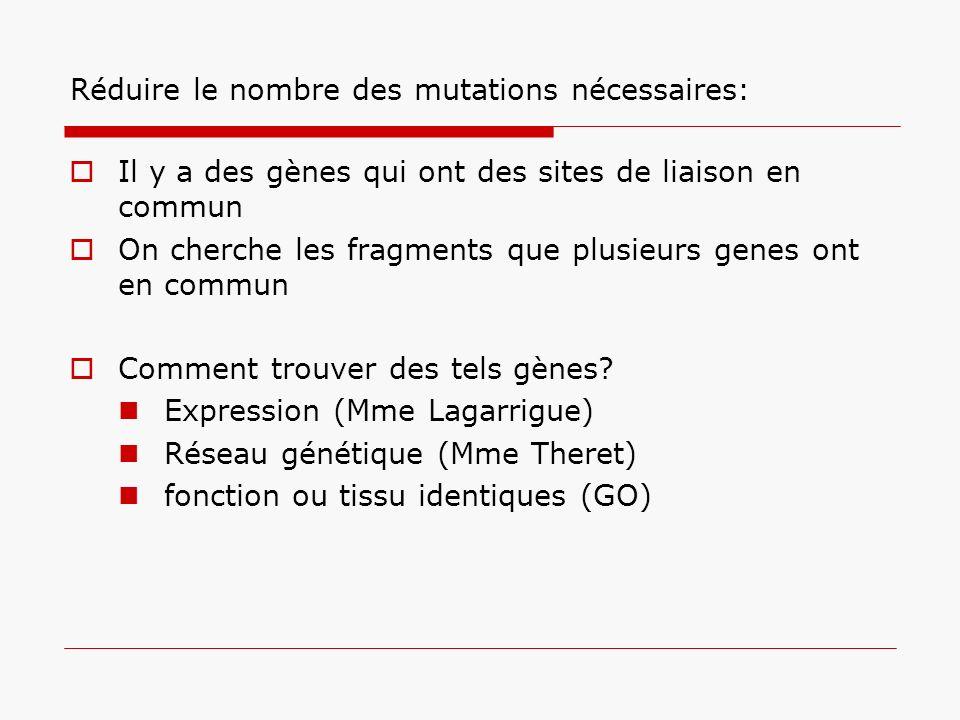 Réduire le nombre des mutations nécessaires: