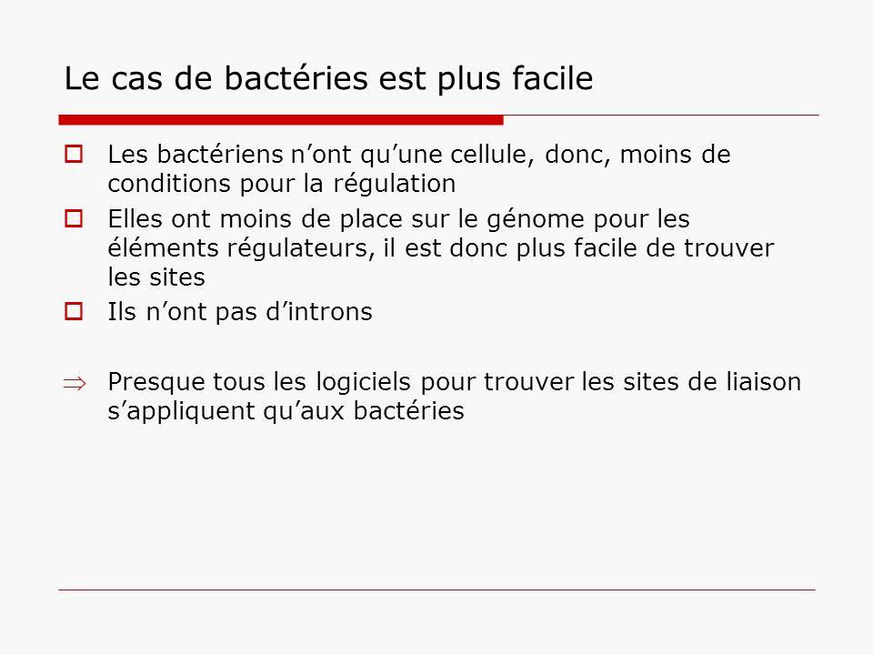 Le cas de bactéries est plus facile