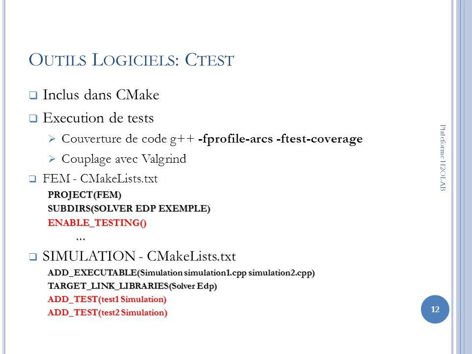 Outils Logiciels: Ctest