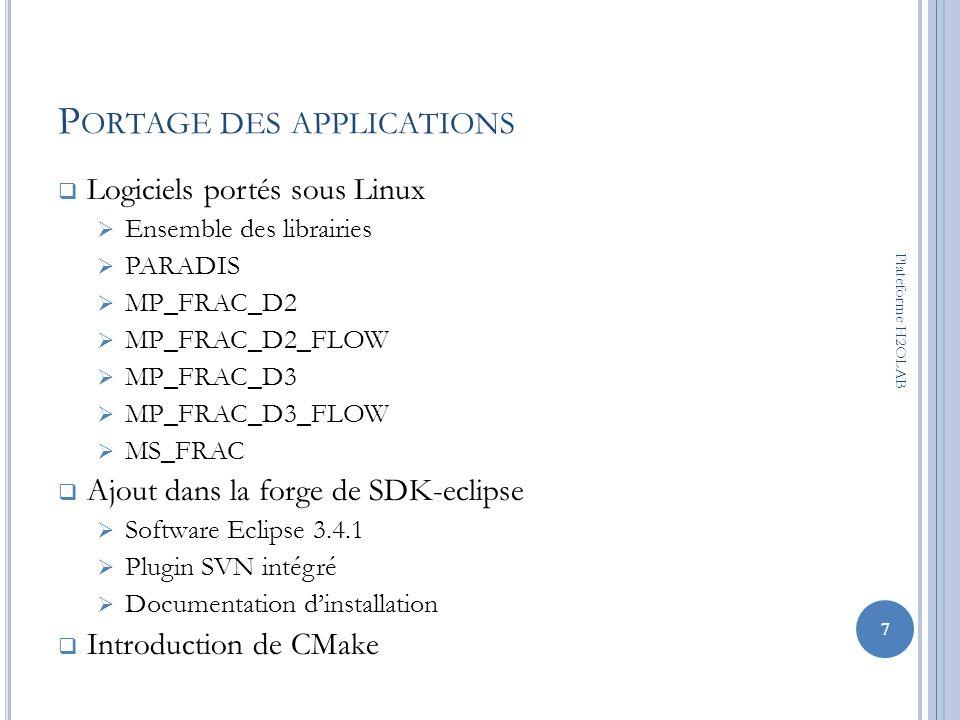 Portage des applications