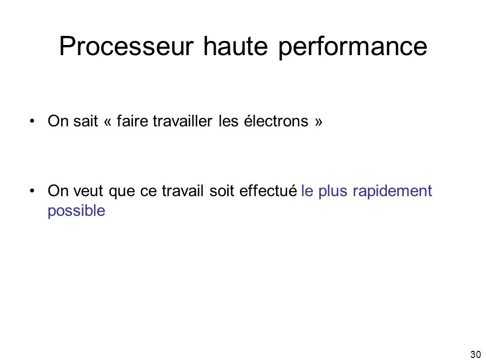 Processeur haute performance