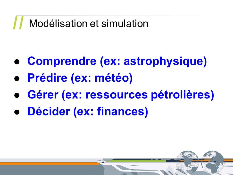 Comprendre (ex: astrophysique) Prédire (ex: météo)