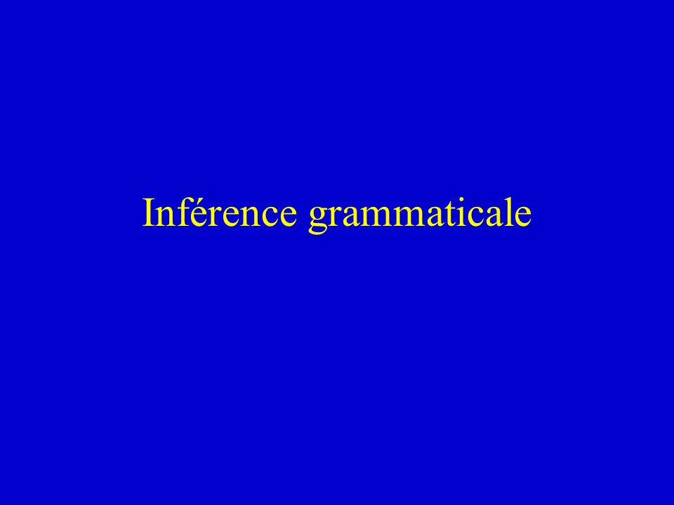 Inférence grammaticale