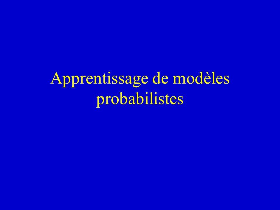 Apprentissage de modèles probabilistes