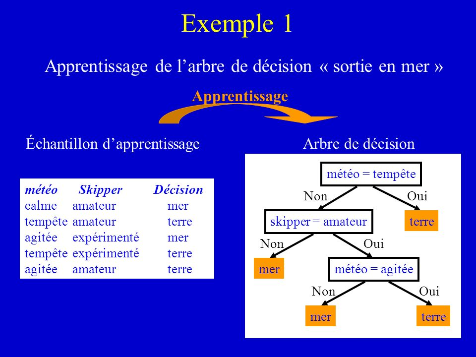 Échantillon d'apprentissage