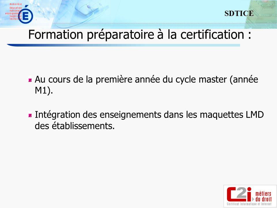 Formation préparatoire à la certification :