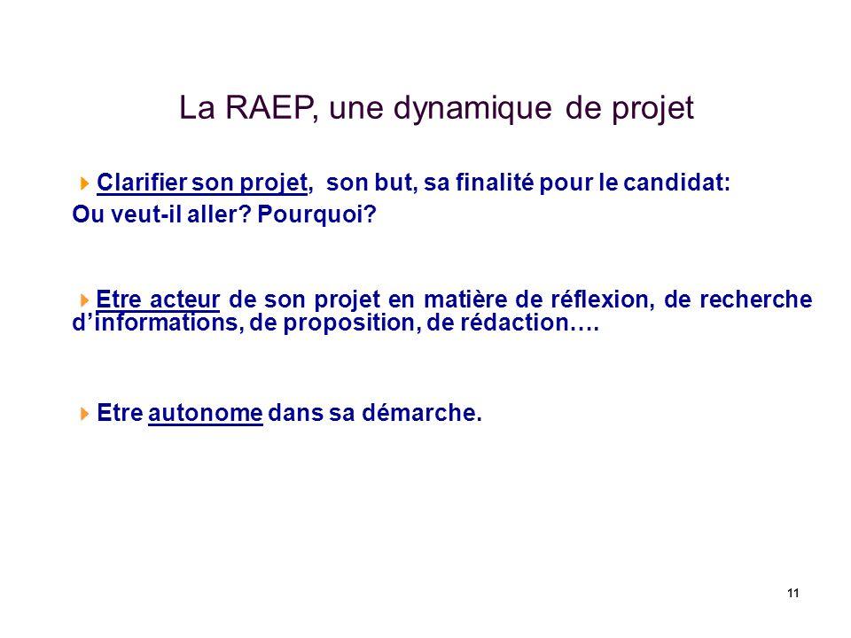 La RAEP, une dynamique de projet