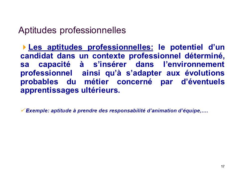 Aptitudes professionnelles