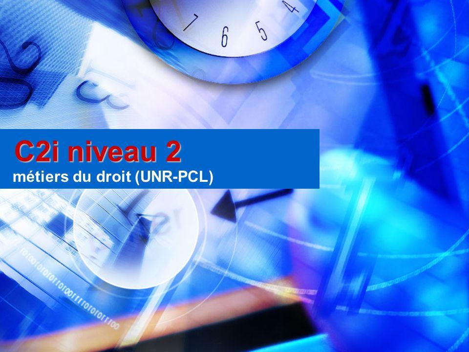 métiers du droit (UNR-PCL)