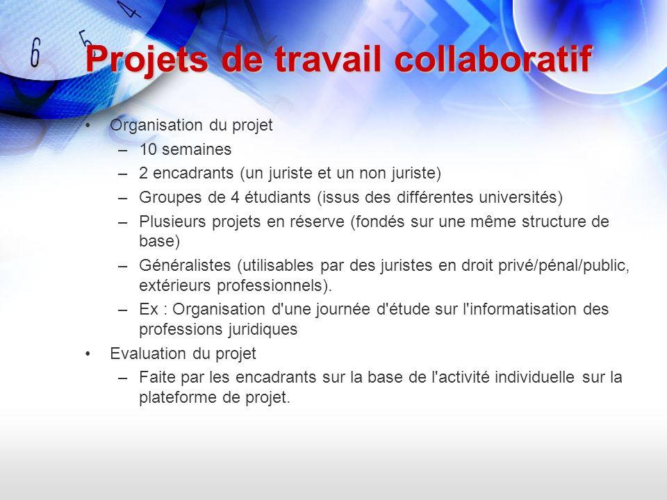 Projets de travail collaboratif