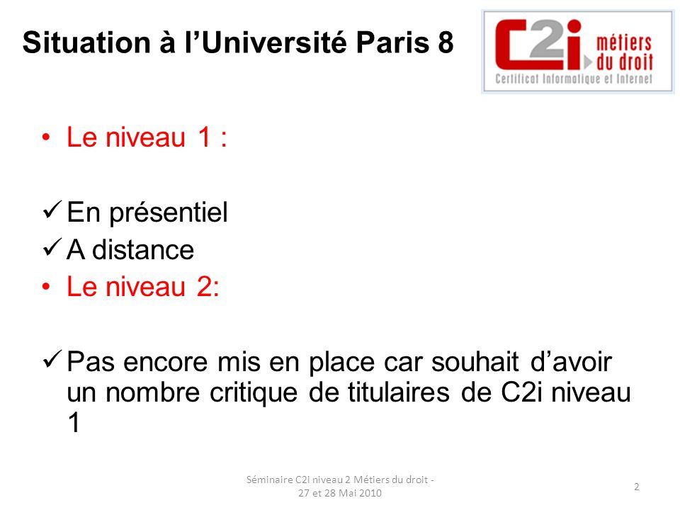 Situation à l'Université Paris 8