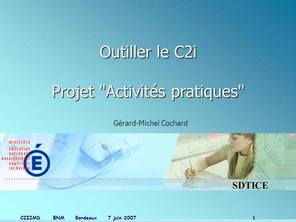 Outiller le C2i Projet Activités pratiques