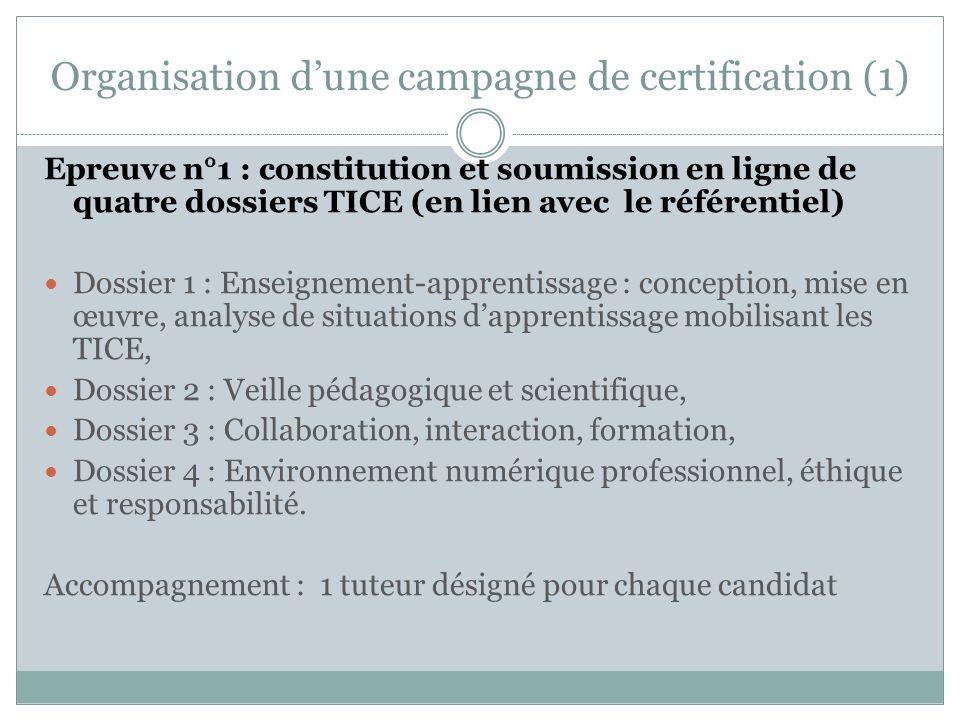 Organisation d'une campagne de certification (1)