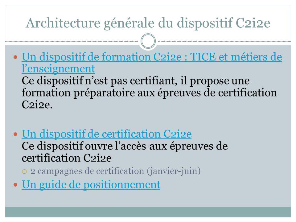 Architecture générale du dispositif C2i2e