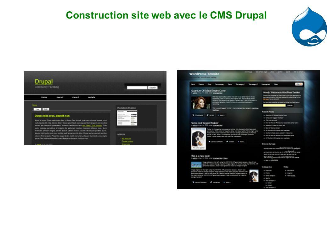 Construction site web avec le CMS Drupal