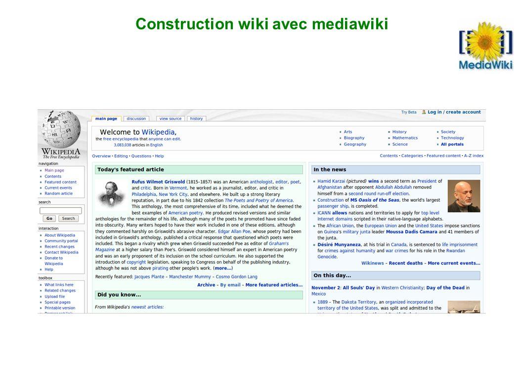 Construction wiki avec mediawiki