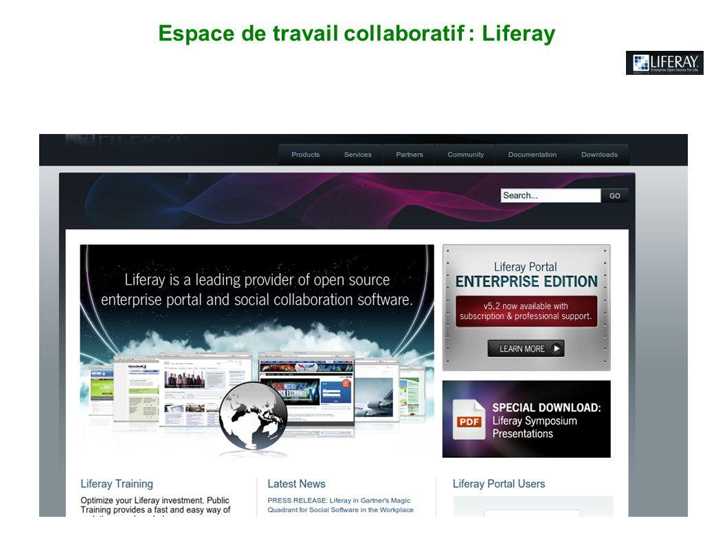 Espace de travail collaboratif : Liferay
