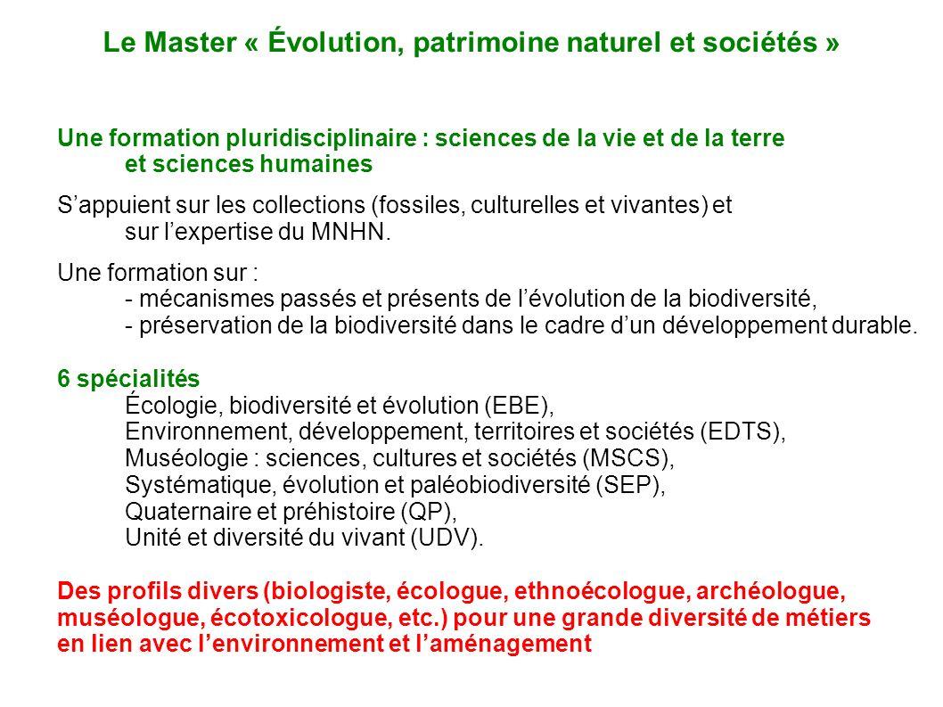 Le Master « Évolution, patrimoine naturel et sociétés »