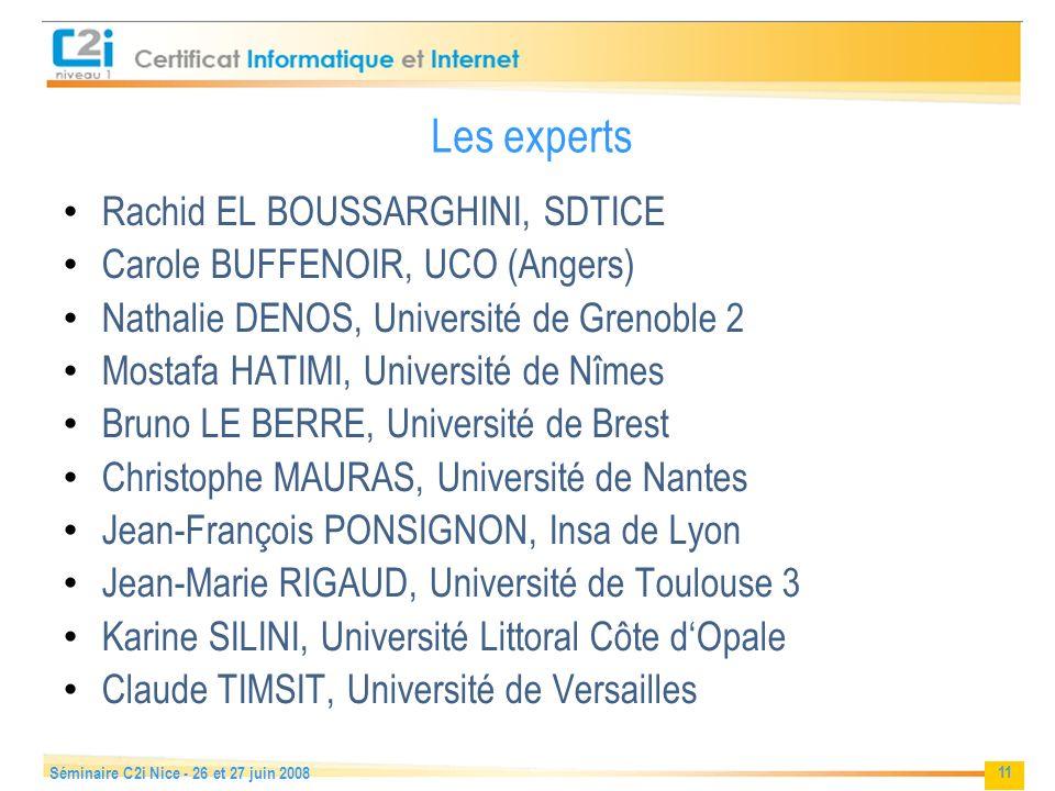 Les experts Rachid EL BOUSSARGHINI, SDTICE