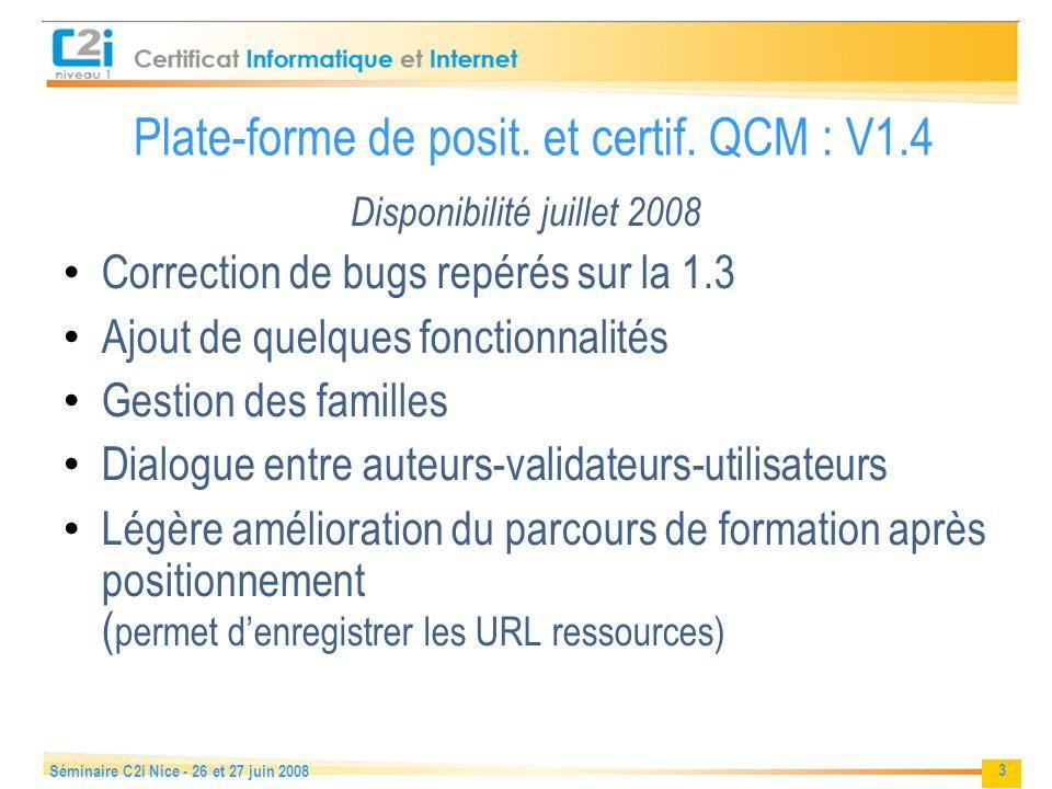 Plate-forme de posit. et certif. QCM : V1.4