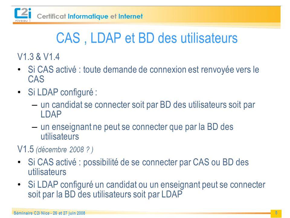 CAS , LDAP et BD des utilisateurs