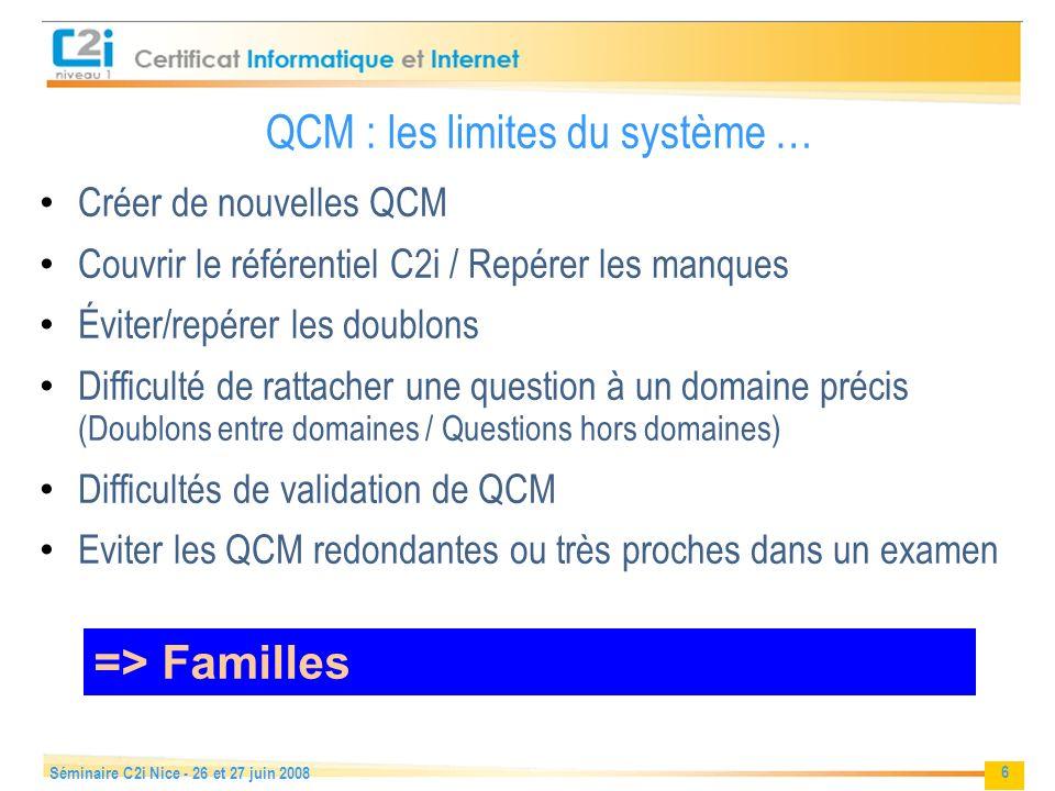 QCM : les limites du système …