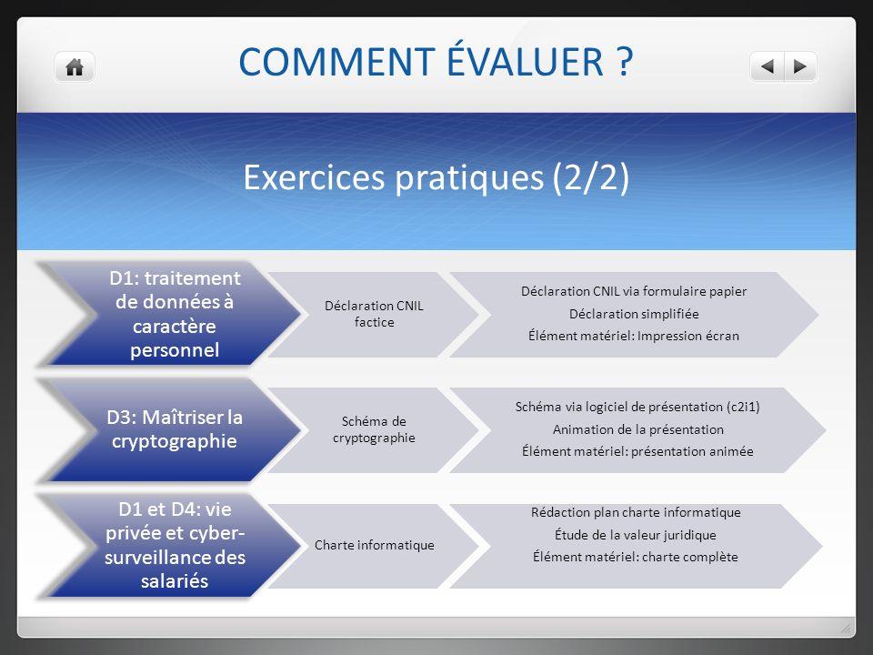 Exercices pratiques (2/2)