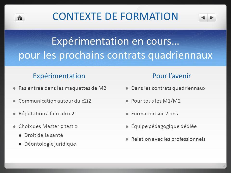 Expérimentation en cours… pour les prochains contrats quadriennaux