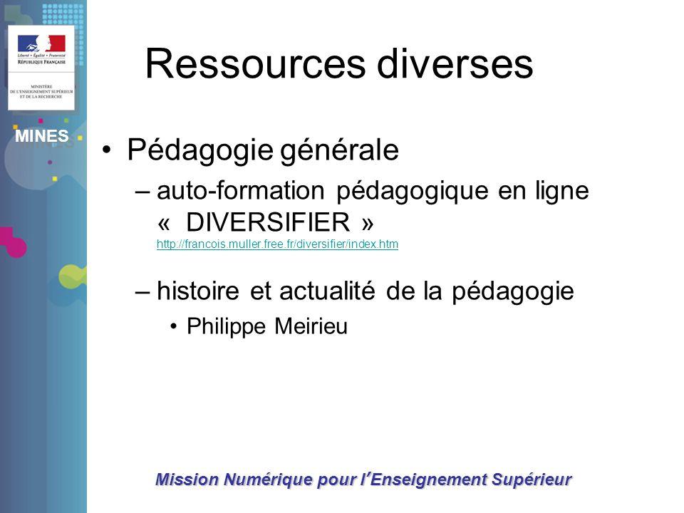 Ressources diverses Pédagogie générale