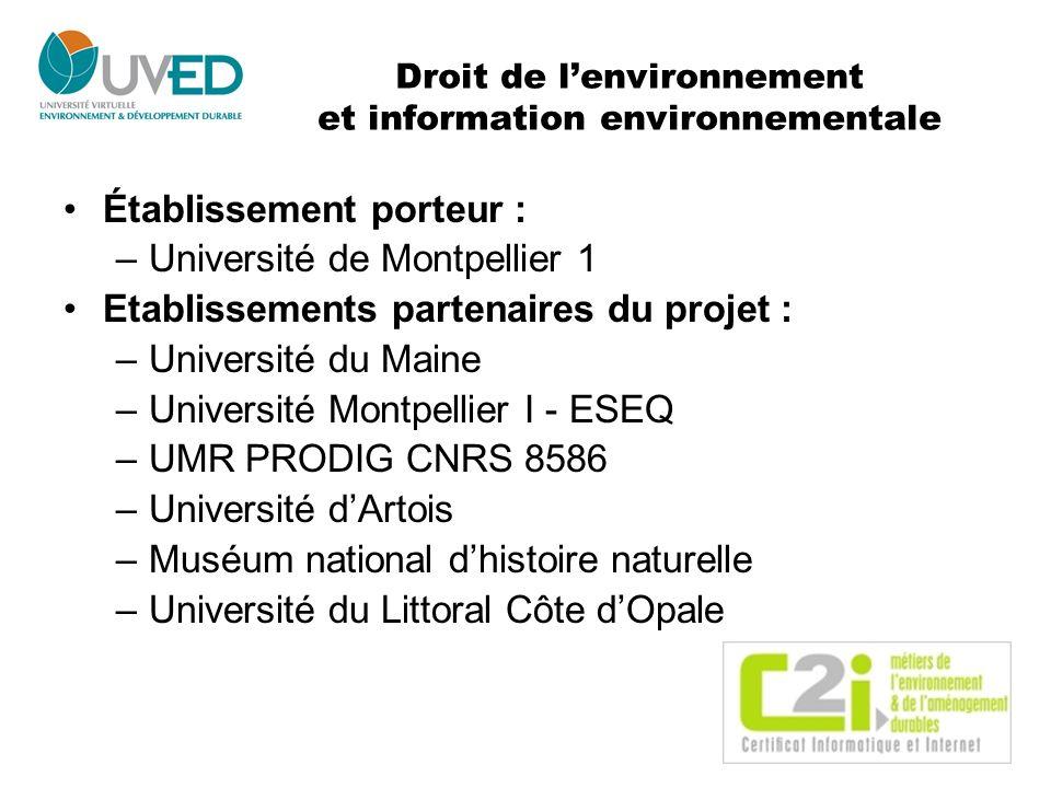 Droit de l'environnement et information environnementale