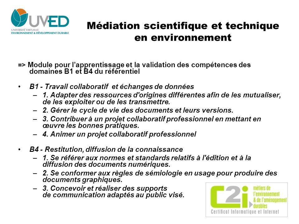 Médiation scientifique et technique en environnement