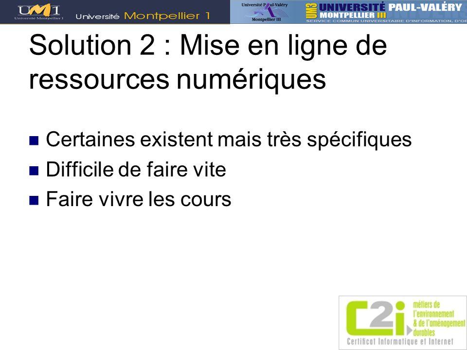 Solution 2 : Mise en ligne de ressources numériques