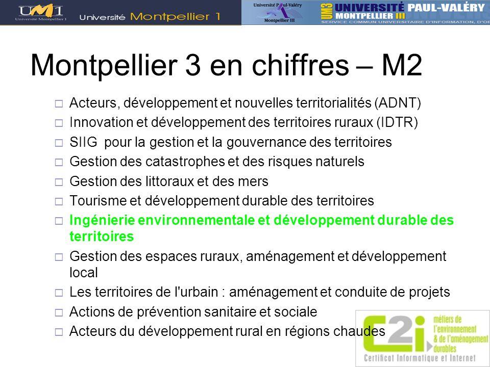 Montpellier 3 en chiffres – M2
