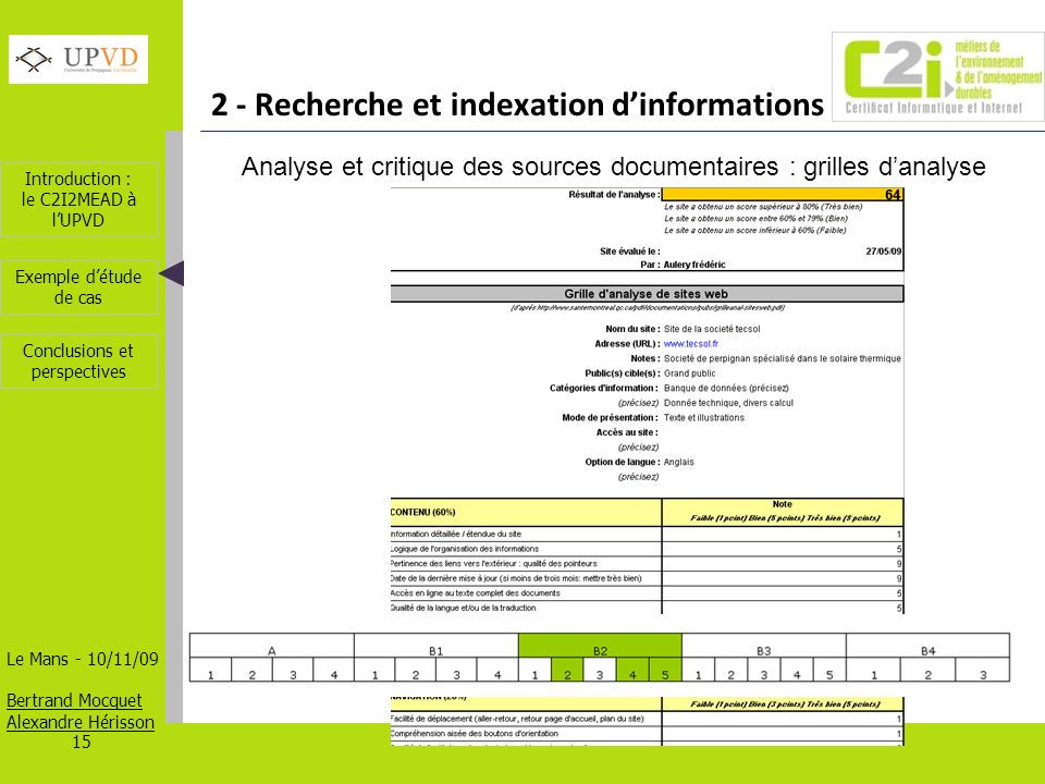 Analyse et critique des sources documentaires : grilles d'analyse