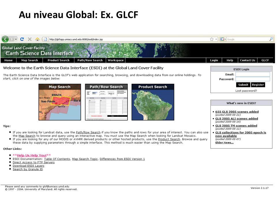 Au niveau Global: Ex. GLCF