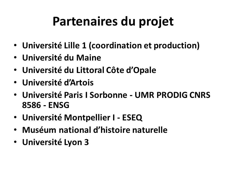 Partenaires du projet Université Lille 1 (coordination et production)